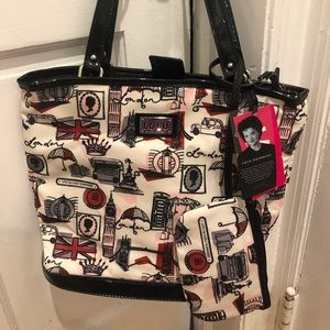 New with Tags Lulu Guinness Bag and Wristlet